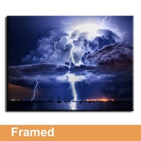 Framed Canvas Prints Wall Decor 1 Panel Lightning Painting Home Art Print On Canvas High Definition