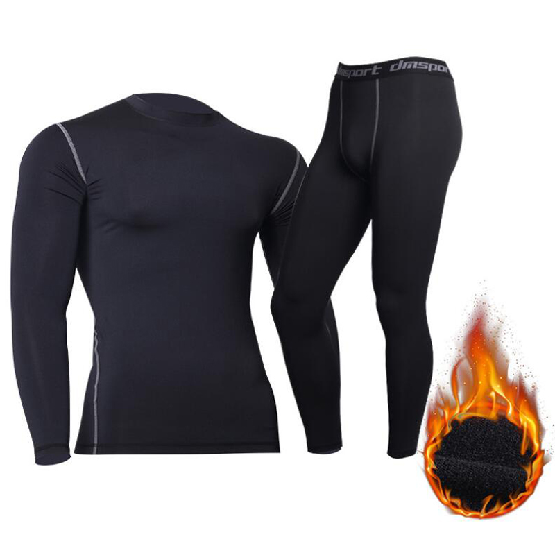 Men's Tactical Fleece Thermal Underwear Sweat Quick Drying Thermo Underwear Mens Breathable Elasticity Long Johns Tops Pants Set(China)