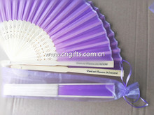 free shipping 50pcs/lot Paper folding Fan,Hand Fan with bamboo ribs customized wedding favors and bridal shower party souvenirs