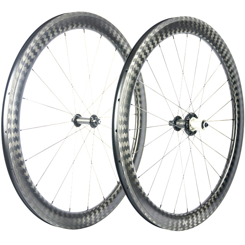 купить 38mm 50mm 60mm 12K Twill Clincher Road Bike Wheels With 350 Hub external Nipples Carbon road bike wheels cycle carbon wheelset недорого