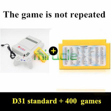 Subor D31 TV game console Double handle nostalgic Video Game Consoles Free electronic gun game card 400 games freeshipping