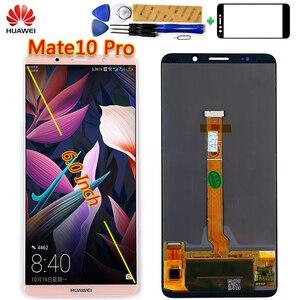 Image 1 - Huawei Mate 10 Pro 6.0 calowy wyświetlacz LCD 2160*1080 ekran dotykowy Digitizer Assembly 100% testowana rama z bezpłatnym narzędziem i szkłem