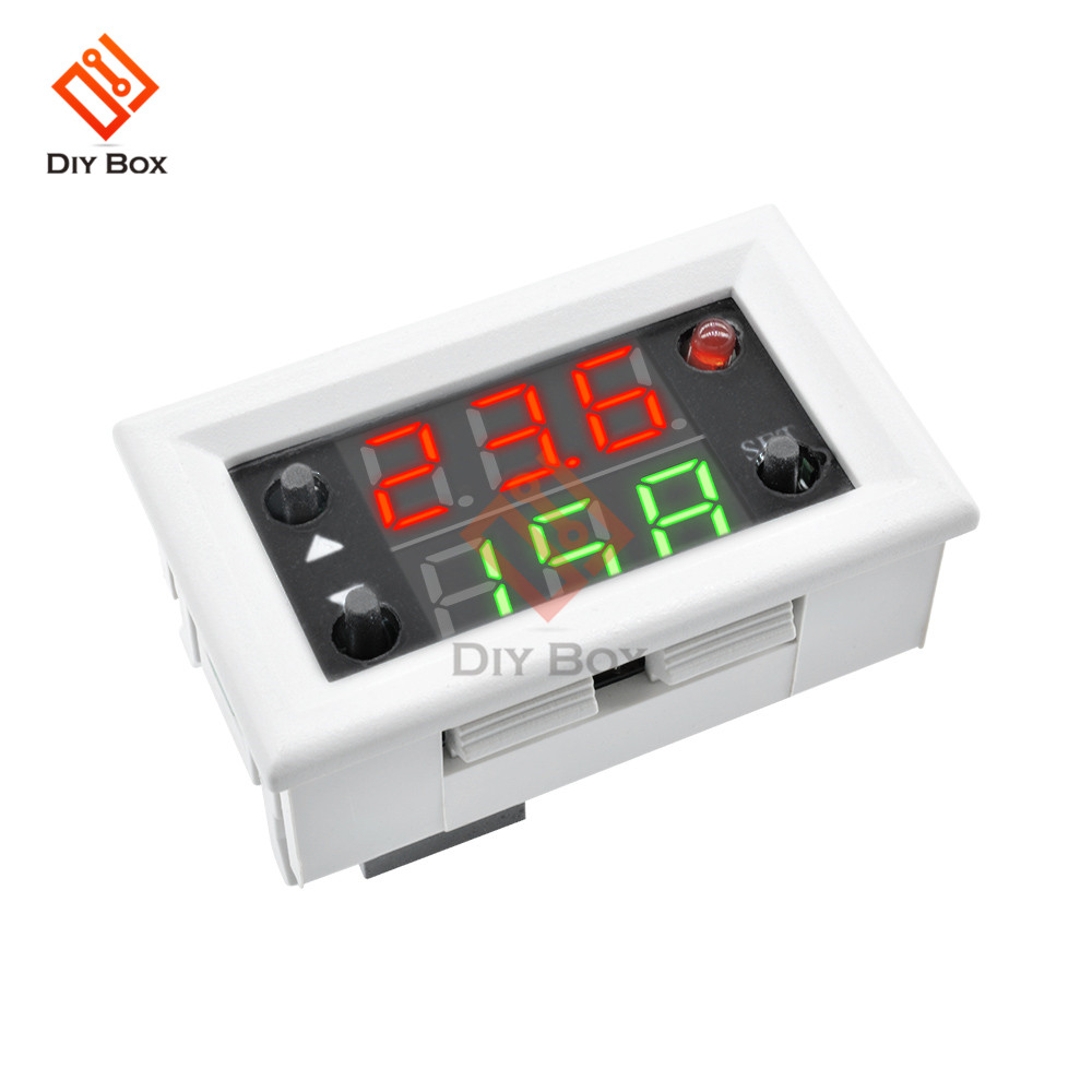 Red Green Dual Display DC 12V Mini LED Digital Time Delay Relay Timer Relay Module Timming Cycle 20A with Case