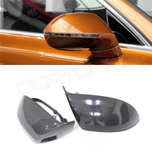 For Audi A7 S7 Replacement Style Carbon Fiber Rear View Side Mirror Cover With Lane Assit  2011 2012 2013 2014
