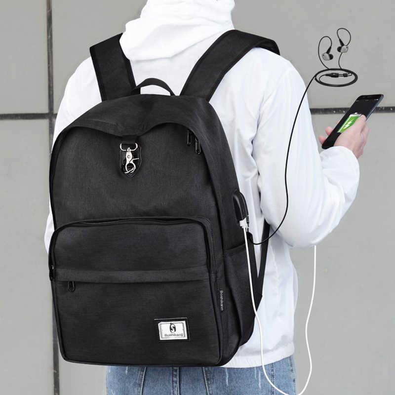 Boshikang Oxford Daily School Rugzak Mode Mannen Laptop Rugzak Toevallige Rugzak Dagrugzak Tiener Reistas