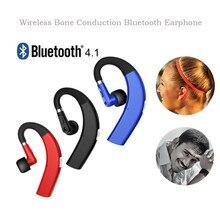 цена на Wireless Bluetooth4.1 Earphone Ear Hook Key Control Headset Sports Stereo Headphone With Mic