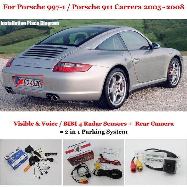 For Porsche 997-1 /Porsche 911 Carrera 2005 2006 2007 2008 Car Parking Sensors Auto Alarm System Rear View Sensor Reverse Camera