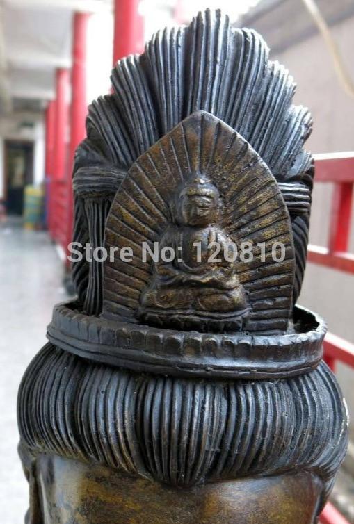 "Zhaomerui22 + + 46 ""Bronce Budismo de China cómoda kwan-yin Bodhisattva Estatua Escultura"