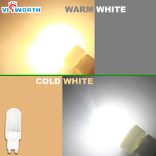 G9 LED lamp 3W 5W 7W 9W 12W 15W LED bulb 120V 110V 220V 230V 240V lampada ultra bright light Warm white Cold white free shipping