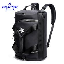 Bopai Повседневное Многофункциональный Для мужчин Дорожные сумки 4 с использованием методов мужской рюкзак унисекс Для мужчин Для женщин путешествия рюкзак Сумки Водонепроницаемый