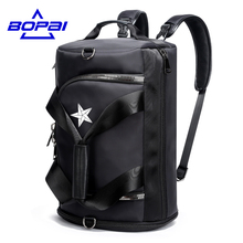 BOPAI Casual Multifunctional Men Travel Bags 4 Using Methods Male Rucksack Unisex Men Women Travel Backpack Bags Waterproof