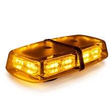 18 Вт 36 светодиодный крышу вспышки аварийного мини Strobe Light Bar Желтый янтарь Предупреждение лампа