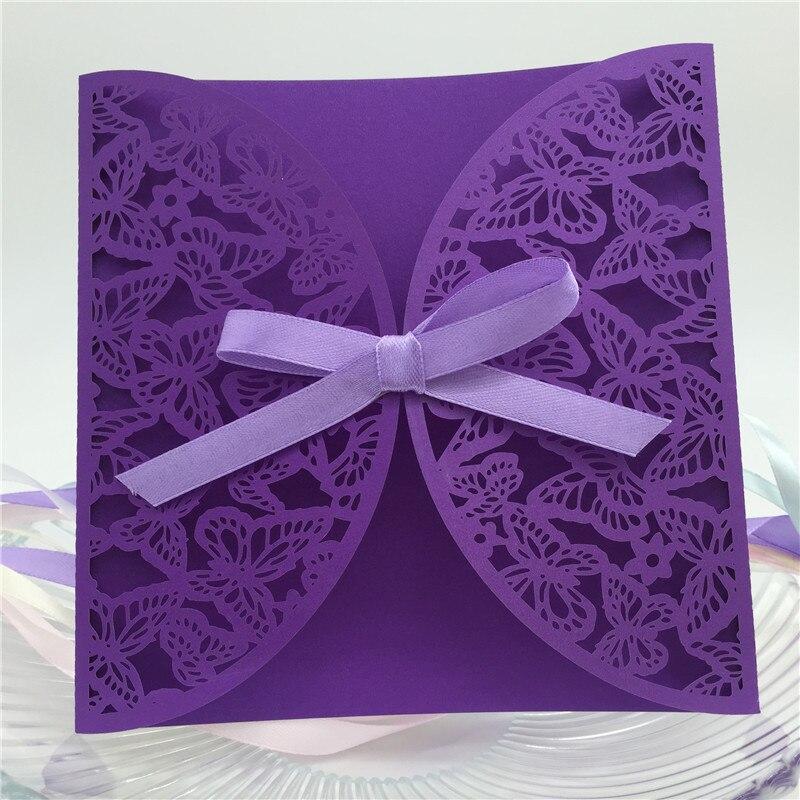 2017 Neue Ankunfts Elegante Schmetterling Laser Geschnitten Hochzeit  Einladungskarten, Verlobung Einladungskarten Hochzeit Dekor.