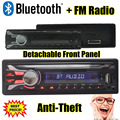 In-Dash Car Stereo Radio bluetooth Seperable painel MP3 Player FM USB SD Entrada AUX frontal Destacável de Alta Qualidade painel frontal