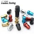 AMK racing--20Pcs/Set Wheel Nut 1.5 Car Anti theft Nuts Gold, M12 x 1.5 Wheel Lock Formula Lug Nuts Security Key Alloy Steel