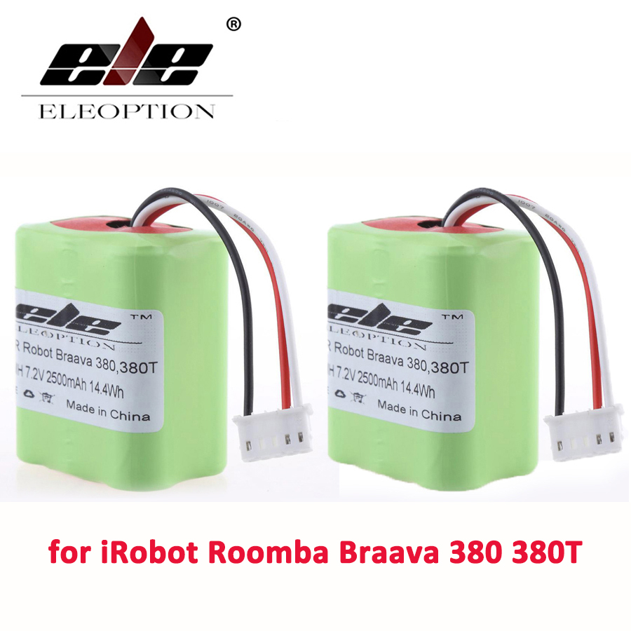 Eleoption 2pcs 7 2v 2 5ah 2500mah Ni Mh Rechargeable