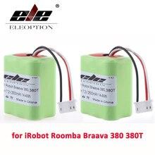 ELEOPTION 2 шт. 7,2 В 2.5Ah 2500 мАч Ni-MH Перезаряжаемые Батарея для iRobot Roomba Braava 380 380 т