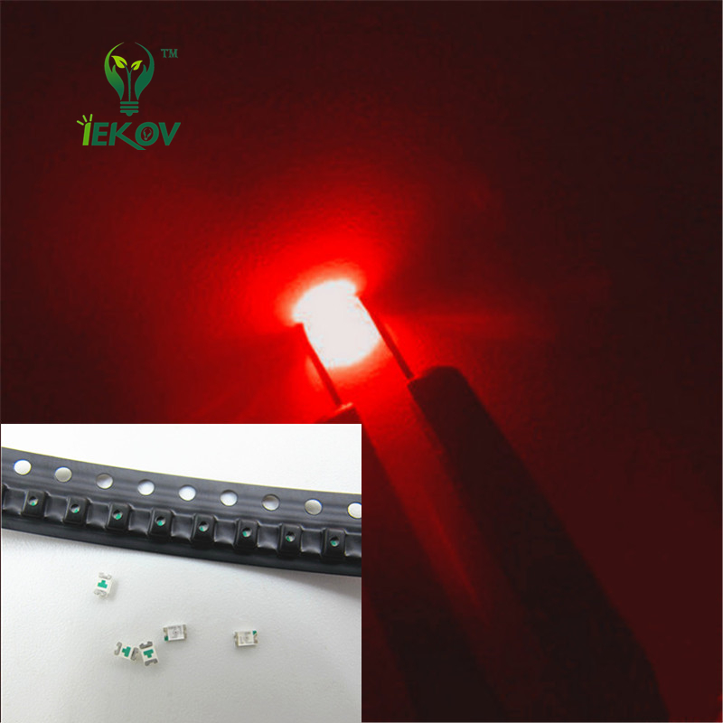 1000 Pcs SMD 0805 Red Led 620-625nm SMT LED Light Diode Water Clear DIY Super Bright