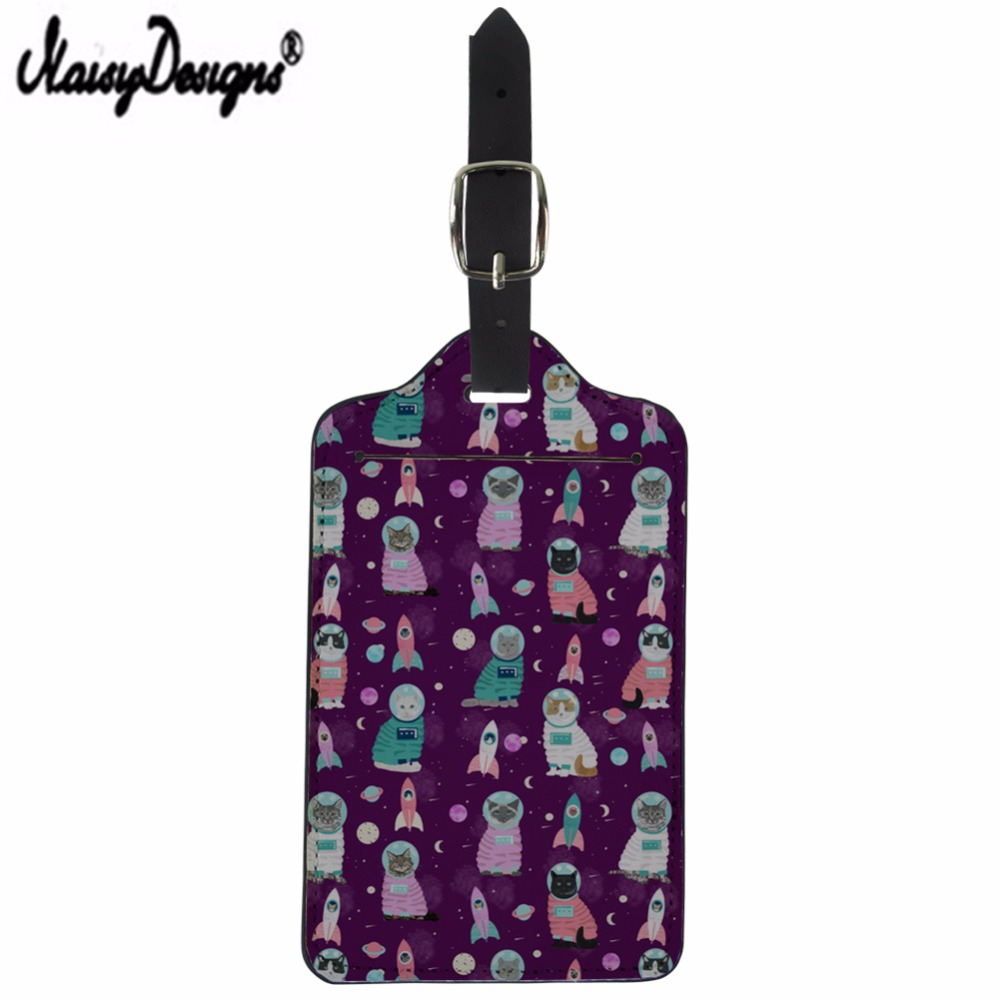 NOISYDESIGNS Dropshipping Travel Accessories Creative Cats Print Baggage Boarding Tags Mala Luggage Tag ID Addres Portable Label