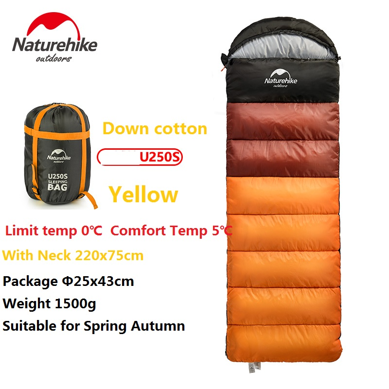 Naturehike Factory Outdoor travel sleeping bag spring Autumn winter warm portable camping adult indoor noon break sleeping bag - 6