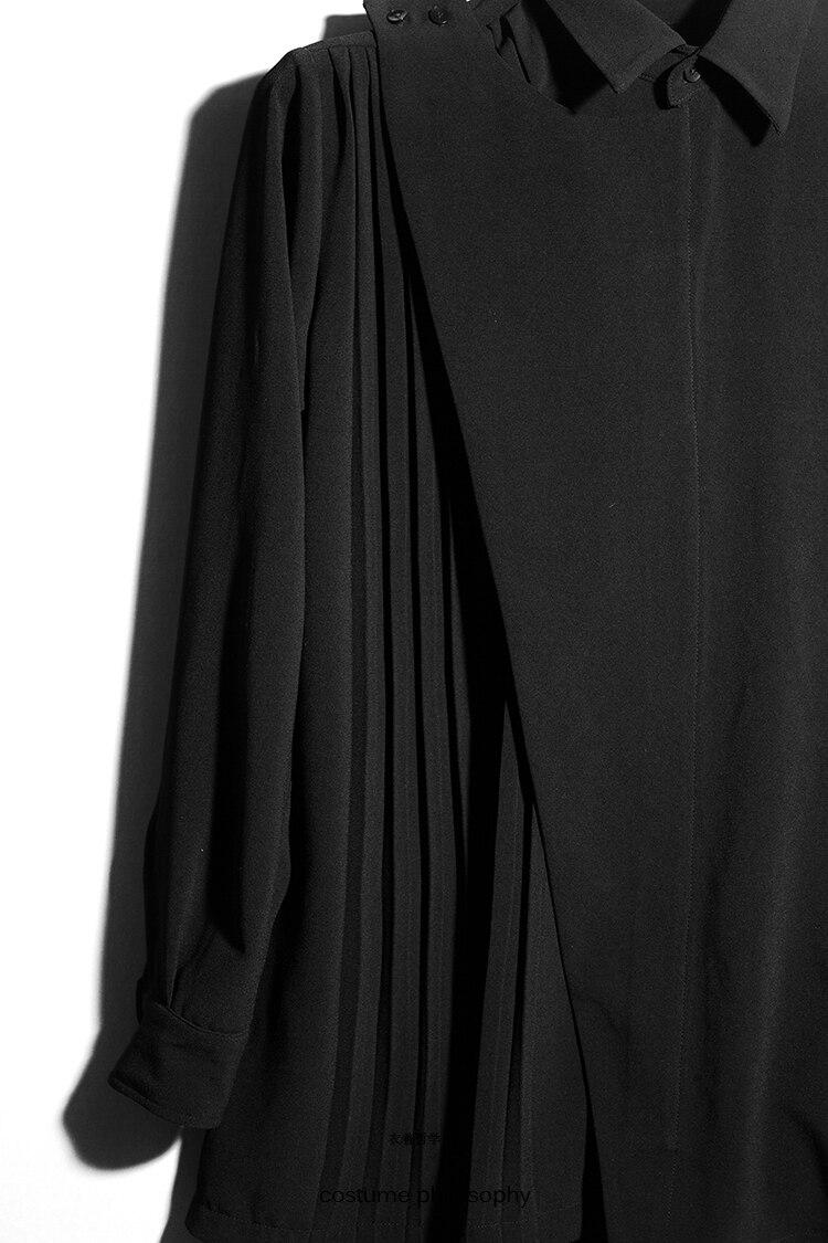 Plis Chemise Rue Styliste Chanteur Taille D'origine Plus 2018 ~ Noir Chaude S 5xl Mode Cheveux Costumes Vêtements Nouveau Catwalk De La q6POUz