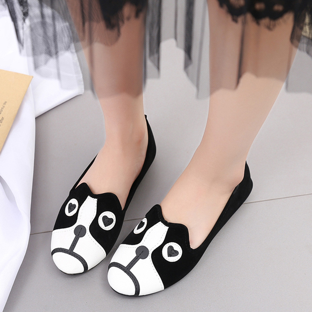 3446a13efaba53 Mocassins Plat Animal Chaussures Dames Rond De Casual Doug Mujer Simples  Bande A Talon Femme Bout ...