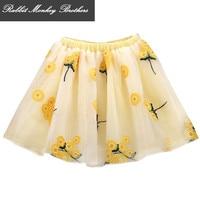 RMBkids ילדים חצאית בנות נסיכת פרח חצאית חוט חצאית חצאית רקום 4 צבע עבור 5 6 12 13 ילדה בת 14 שנים