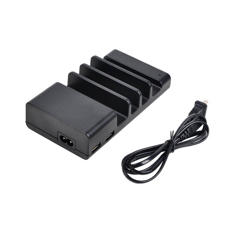 4 Ports USB Charging Station Dock Desktop Charging Stand Organizer Mobile Phone Charger for iPhones iPad etc phones pads tablets