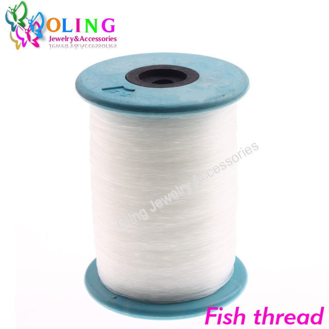 DIA 0.2MM 5000M Inelastic Line White Strong Beading Cord Wire String for Thread Jewelry Making Bracelet/Necklace Nylon thread