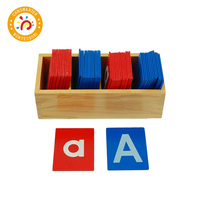 Baby Toy Montessori Material Red and Blue Sand Alphabet Board Learn Letters Early Education Teaching Aids