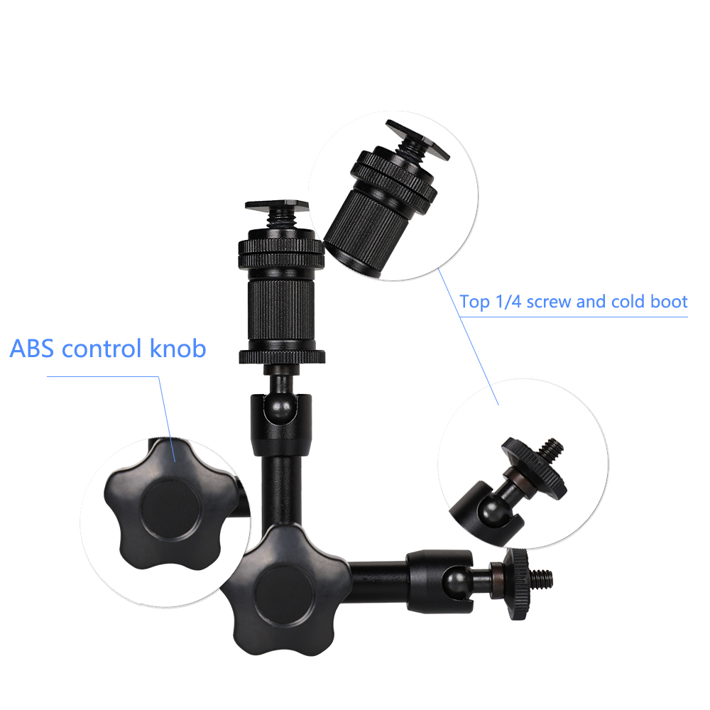 Image 5 - Kaliou Adjustable 7 Inch Articulated Magic Arm + S Super Clamp For Camcorder LCD Monitor LED Light DSLR Camera Flash Bracket-in Photo Studio Accessories from Consumer Electronics