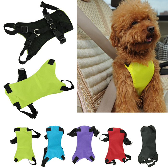 Douable Pet cat dog Safety car Seat Belt Harness small large Dog Leash Safety Seat Belt Collar with leash dog supplier