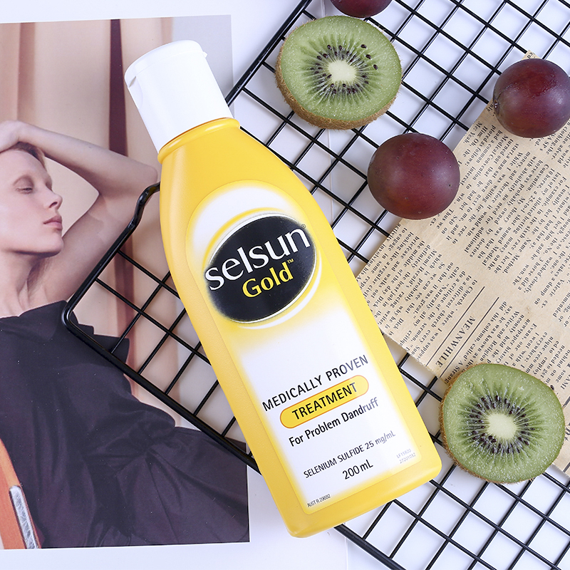 Selsun Gold Dandruff Medicated Shampoo Treatment Anti Dandruff Seborrheic dermatitis Shampoo Relieve Flaking Itching Cools Scalp 2