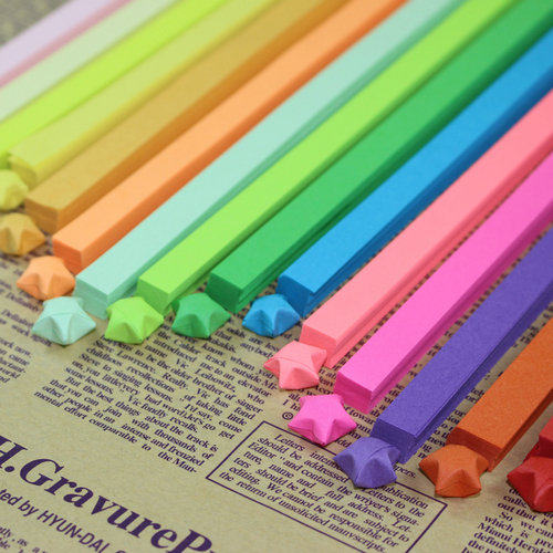 Online Shop New DIY Rainbow Color About 80 Strips Handcraft Origami