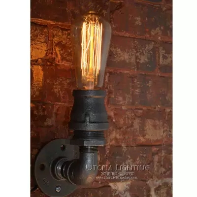 Nordic Loft Style Industrial Vintage Wall Light Fixtures For Home Antique Water Pipe Lamp Edison Wall Sconce Indoor Lighting