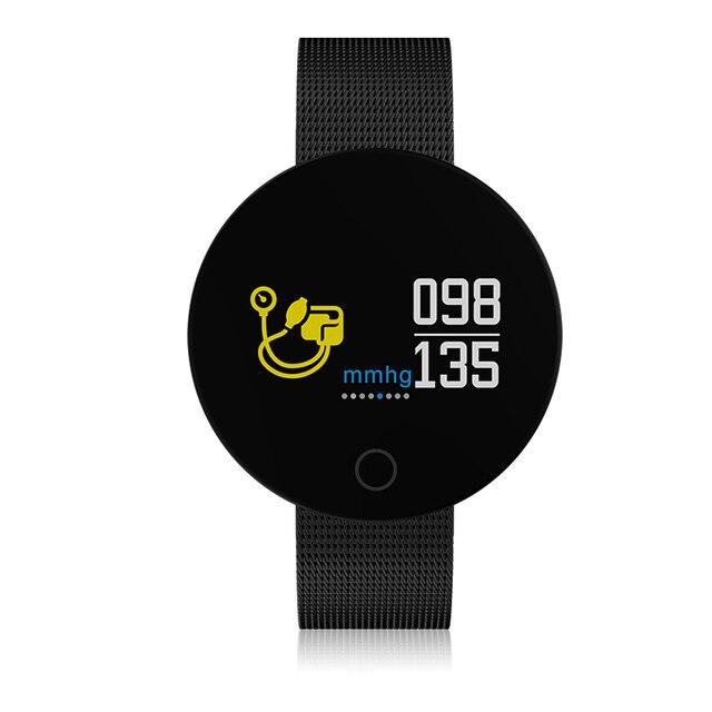 a3e9c780438 CF007 Accewit PRO Aço Relógio Inteligente Relógio da Frequência Cardíaca  Monitor de Pressão Arterial Medida Rodada