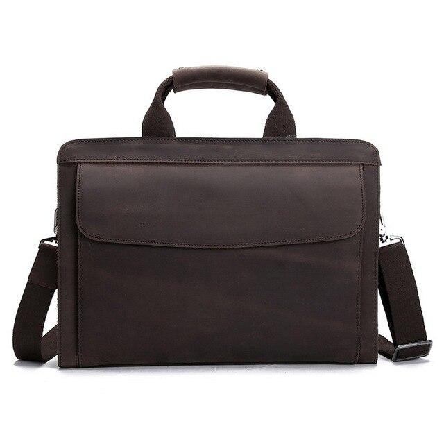 01bec49d8810a Moda Auténtica cartera de cuero de Los Hombres de negocios maletines cartera  bolsas de cuero maletín