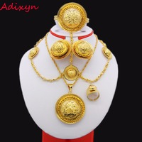 2017 New Traditional Festival Jewelry 24K Gold Plated Party Wedding Ethiopian African Women Fashion Jewelry Set