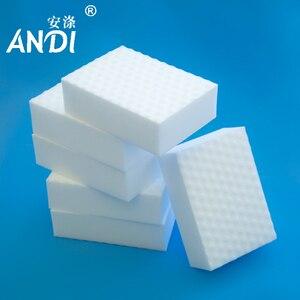 ANDI 100pcs/lot High Quality Double Compressed nano sponge Magic Sponge Eraser Melamine Cleaner for Kitchen Cleaning 10x6x2cm