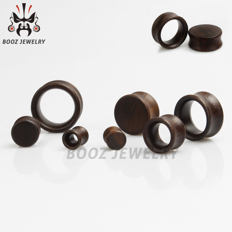 KUBOOZ Wood Ear Tunnel Plug Fashion Stretcher Gauges Earrings Expander Studs Body Piercing Ring Jewelry For