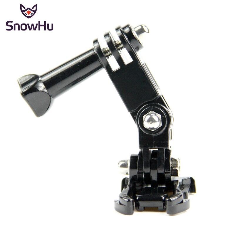 SnowHu Accessories Three-way Pivot Arm Extension + Quick Buckle Mount Base + Screw For Gopro Hero 8 7 6 5 4 SJCAM Xiaomi YI GP15