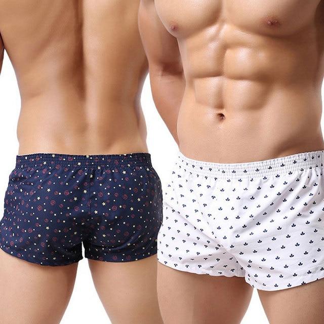 Trunks Men Boxer Shorts Slacks Cotton Underwear Mens Fashion Sexy Boxers  Mens Undershorts Home Cuecas Homewear Beach Underpants 5b91a8cf186