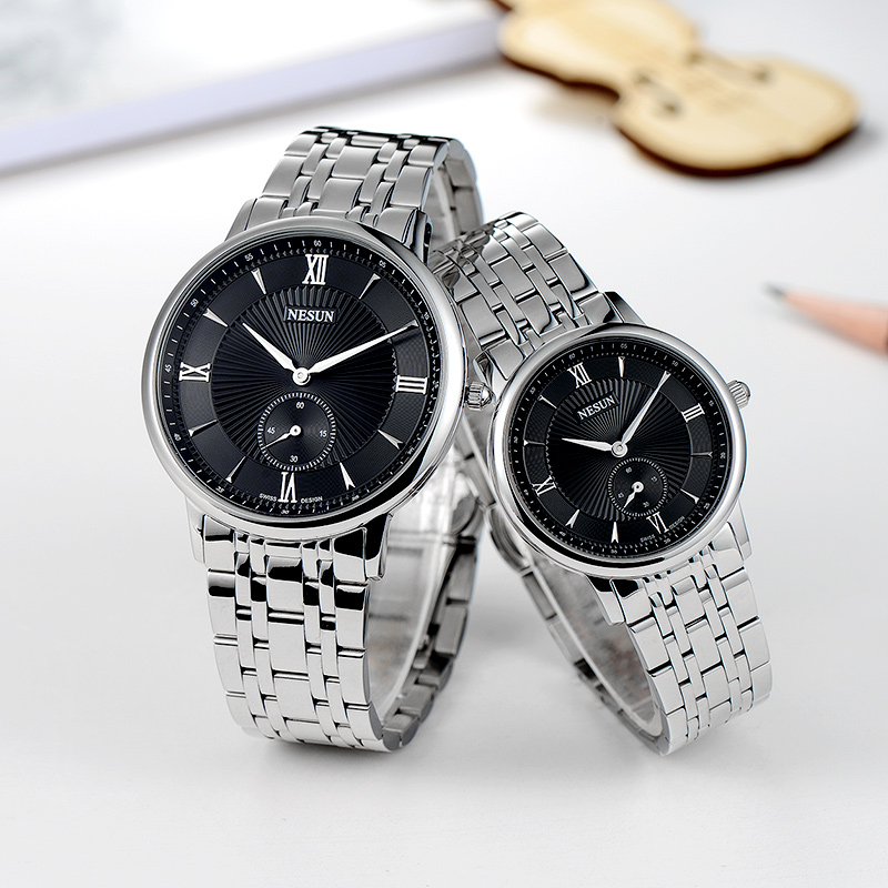 Nesun Switzerland Luxury Brand Watch Men Japan MIYOTA Quartz Movement Lover's Watches full Stainless Steel Women clock N8501-SL2 nesun switzerland luxury brand watch men japan miyota quartz movement lover s watches full stainless steel women clock n8501 sl3