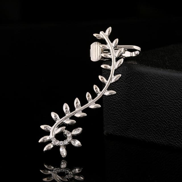 Flower Leaves Cuff Earring for Women