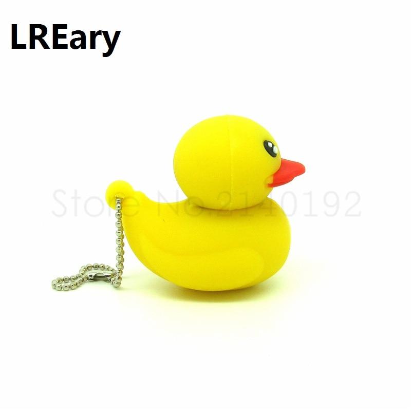 Hot Sale Cute Small Yellow Duck USB Flash Drive Good Gift Pen Drive Flash Card 4gb 8gb 16gb 32gb  PenDrive Childhood Dream