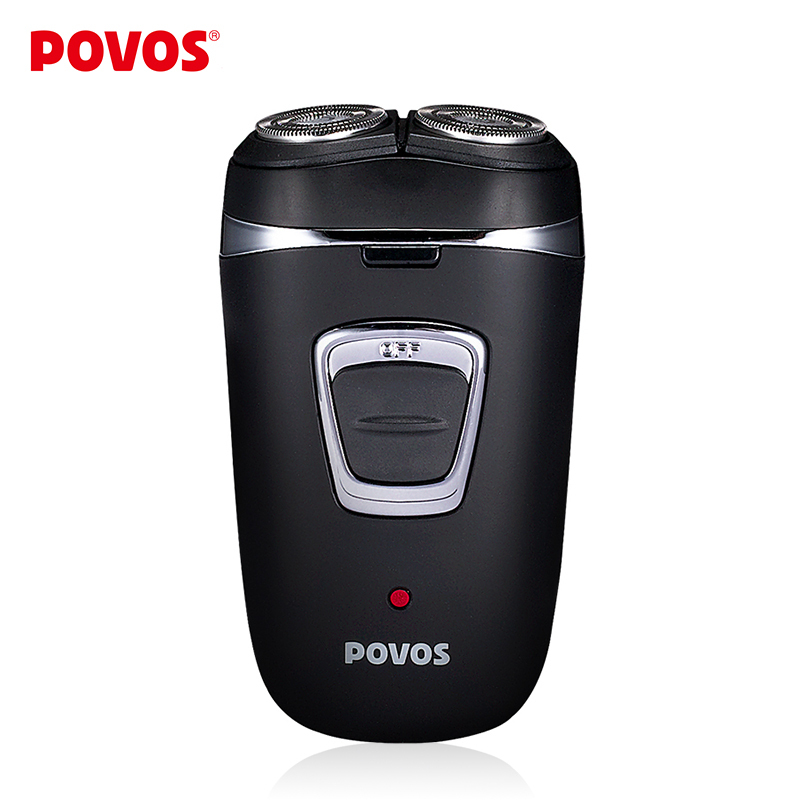 POVOS Wet/Dry Full Washable Rechargeable Men's Twin Blade Double Head  Electric Shavers Razor Pop-up Trimmer (100-240V) PB0593Q povos pq7102 electric rechargeable tri blade head rotating shaver razor w trimmer