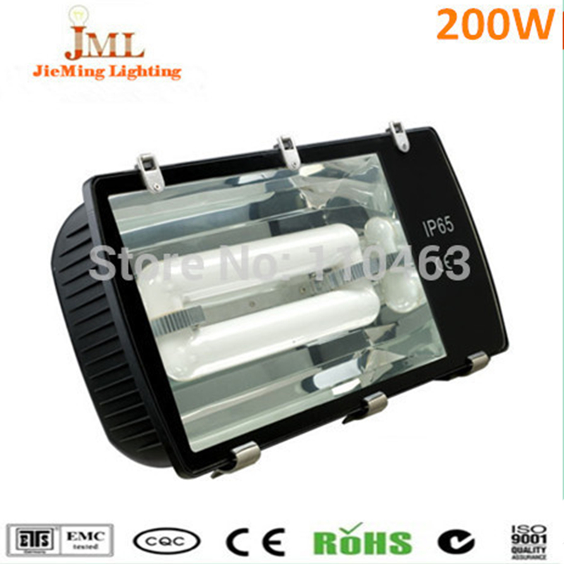 Free shipping IP65 Waterproof outdoor lights induction floodlight tunnel light 200W Outdoor Lighting Emergency Lamps Wall light