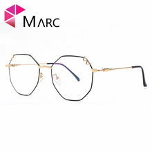 MARC 2018 NEW WOMEN Reading Optical Black Silver glasses classic Plain glass Golden spectacles Flower clear Frames 7-1963