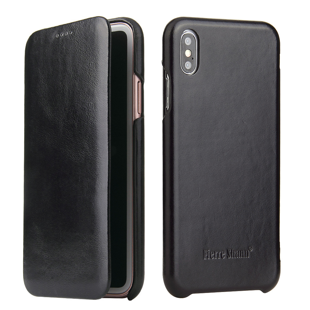 High Quality Luxury Genuine Leather Case For IPhone XS Max 6 7 8 Plus X XR Case Ultrathin Magnetic Snap Flip Phone Case Cover