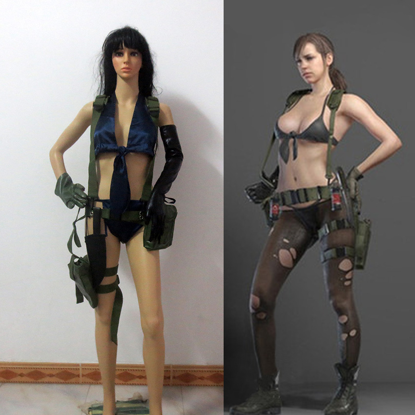 Metal Gear Solid V Venom Snake Quiet Cosplay Costume -5172
